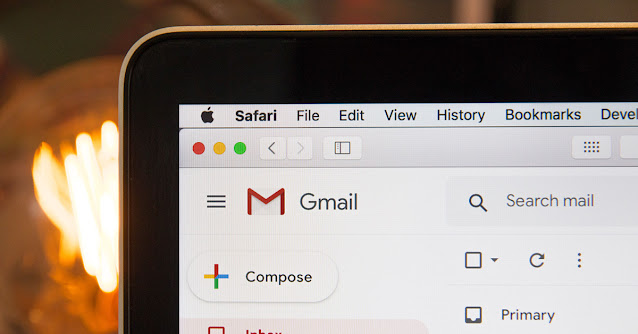 computer screen of a Gmail account