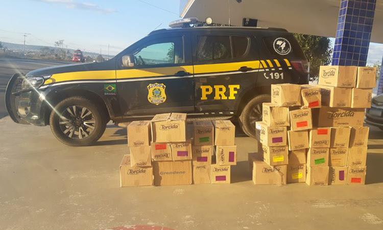 PRF prende pessoas envolvidas no saque de carga de caminhão em Vitória da Conquista