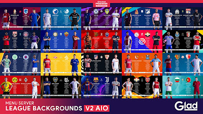 PES 2021 League & Cup Backgrounds V2 AIO by Glad20