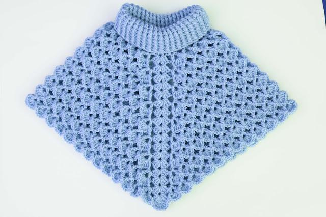 4-Crochet Imagenes Poncho cuello de tortuga a crochet y ganchillo por Majovel Crochet