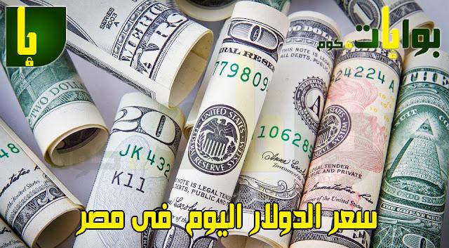 سعر الدولار اليوم  فى مصر