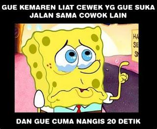gambar meme lucu kartun spongebob