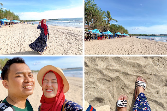 backpacker ke pantai kuta bali