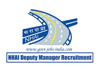 NHAI Deputy Manager Recruitment 2020