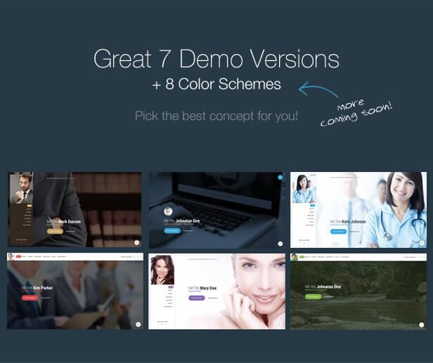 Mi. - Ultimate Personal Resume vCard WordPress Theme