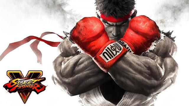Street Fighter 5 com Ryu e Ken jovens