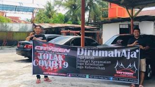Cityzen Chapter Padang pasang himbauan covid19 pada masyarakat