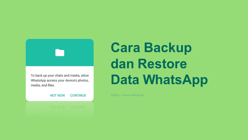 cara backup dan restore Whatsapp