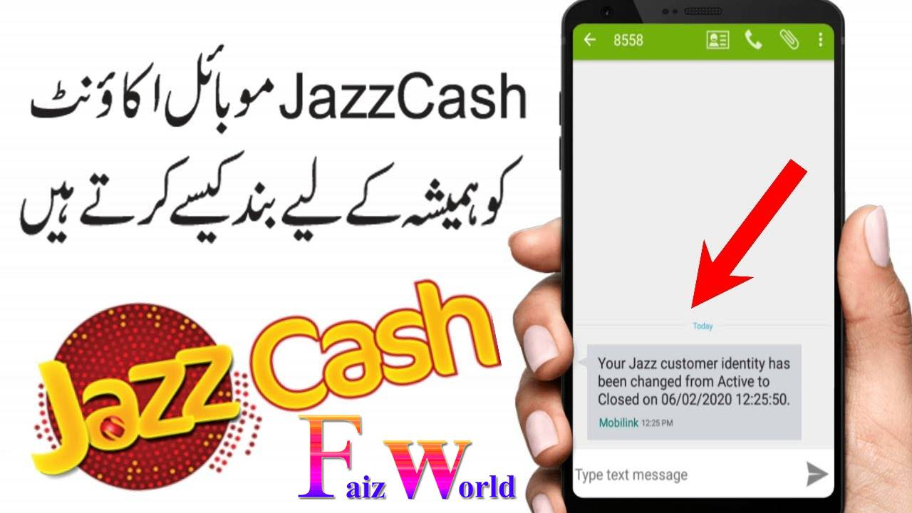 how to close jazzcash account
