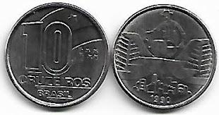 Moeda de 10 Cruzeiros, 1990