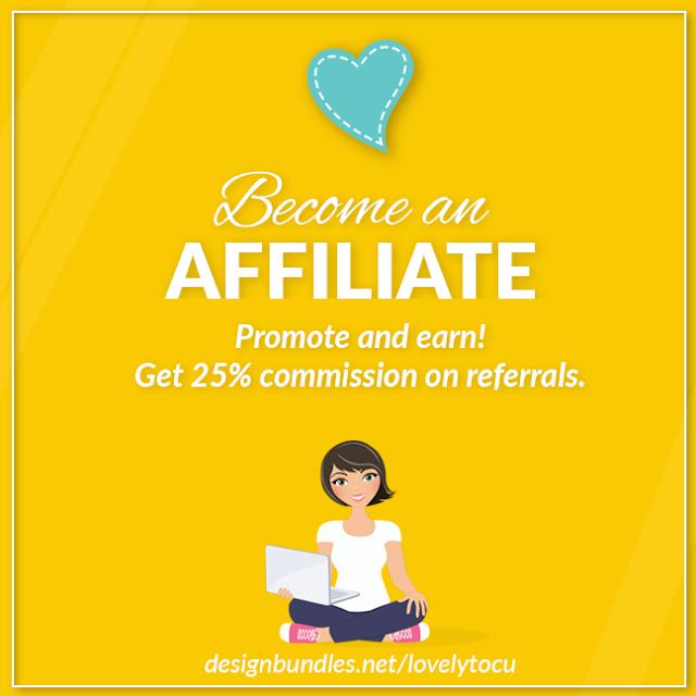 Become an affiliate for Lovelytocu via Design Bundles marketplace