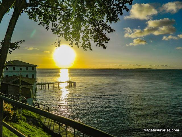 Pôr do sol no Solar do Unhão, Salvador