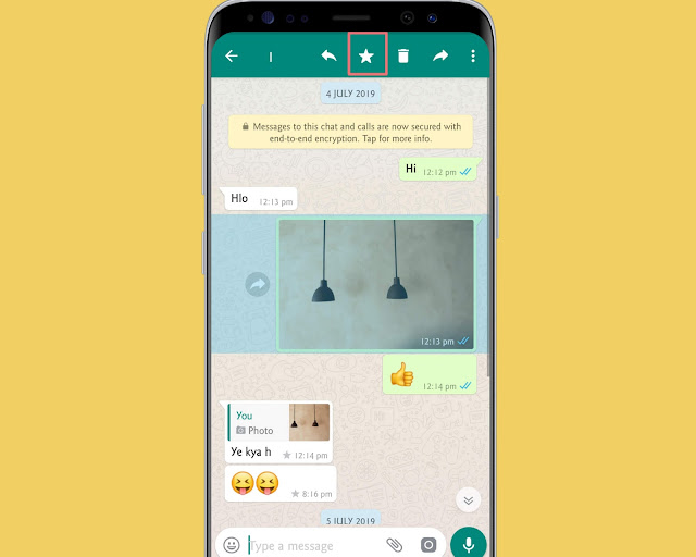 Star Messages - WhatsApp tricks