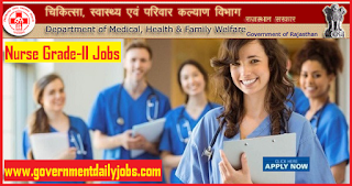 DMHFW Rajasthan Recruitment 2018 Apply 4514 Nurse Grade II Jobs