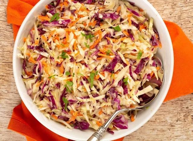 Homemade Coleslaw #sidedish #vegetarian