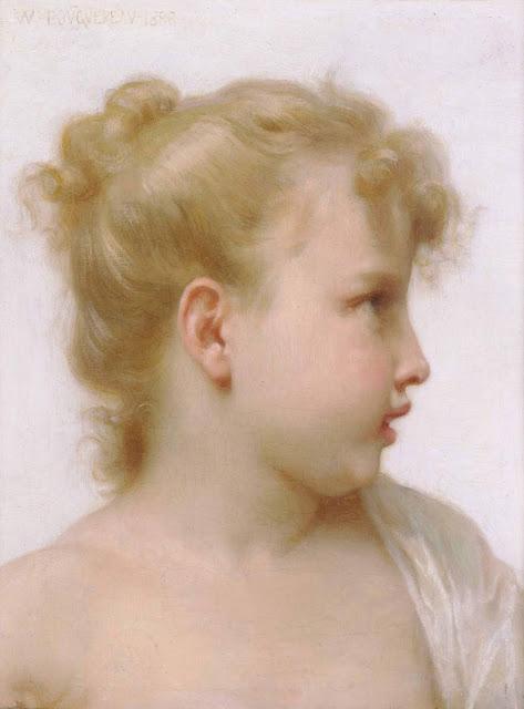 Адольф Вильям Бугро - Голова девочки (1888)