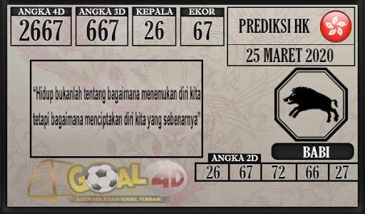 Prediksi Togel Hongkong Rabu 25 Maret 2020 - Prediksi Goal4D