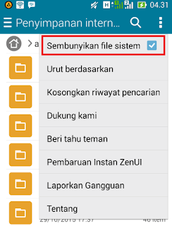 Cara menyembunyikan file dan folder di hp android