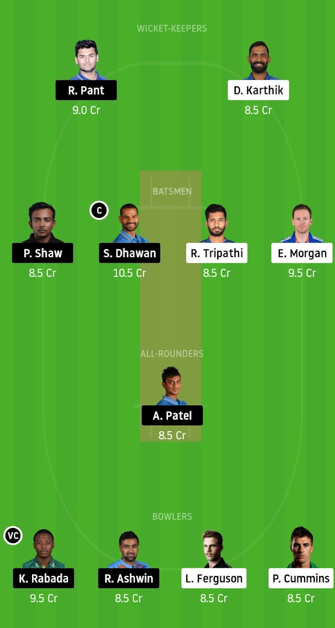 IPL 2020: KKR Look For Revival Against DC - Kolkata Knight Riders vs Delhi Capitals Dream11 Prediction