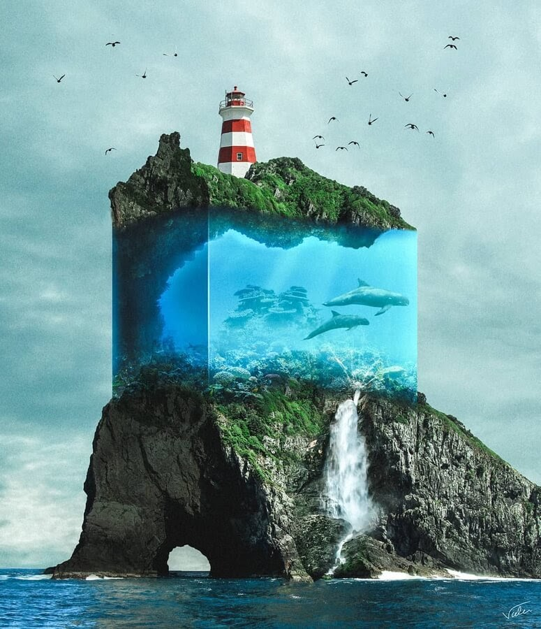 01-The-lighthouse-and-the-dolphins-Benny-Productions-www-designstack-co