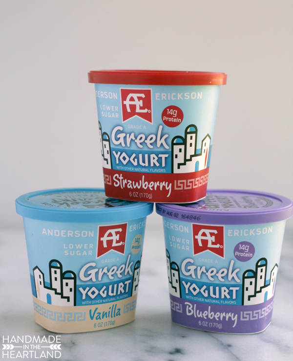 Berries & Cream Frozen Yogurt Bites with #AEDairy