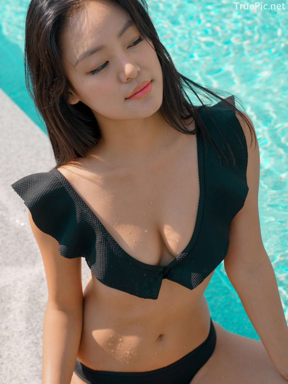 Korean model and fashion - Choi Seok Yeong - Alice Black and Blue Bikini - Picture 10