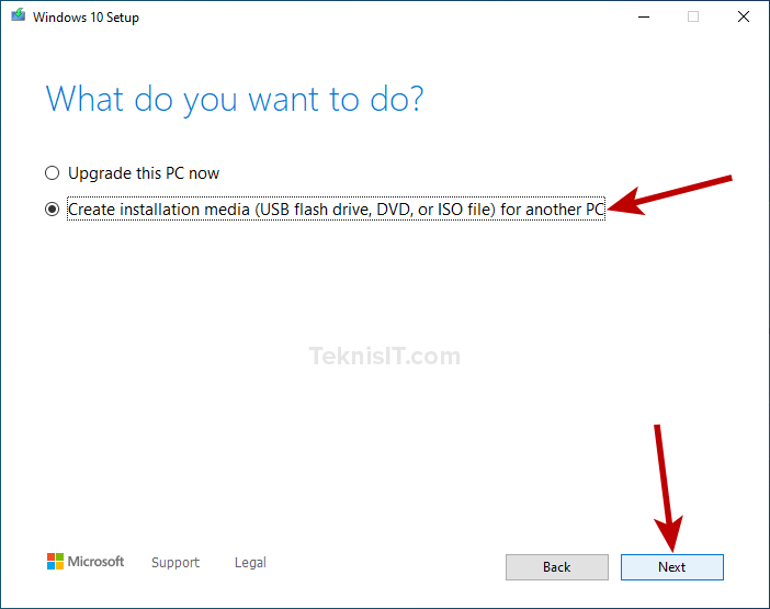 Cara membuat bootable flashdisk dengan Media Creation Tool