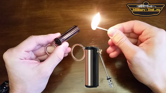 permanent match flint lighter fire starter keychain striker camping outdoor fire