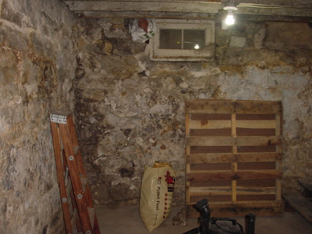 Lighting Basement Washroom Stairs: This Old Crack House: Getting Plastered Slowly