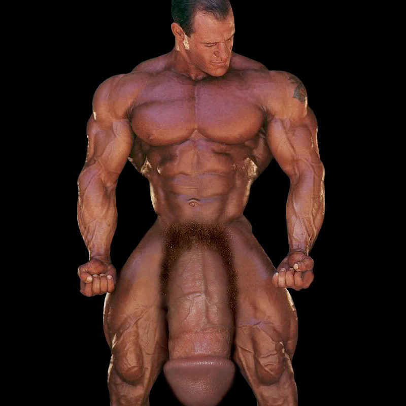 Huge Bodybuilder Has A Super Thick Giant Dick Grease Up Both Hands And Jack Him
