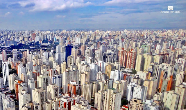 Vista panorâmica do Bairro de Moema - São Paulo