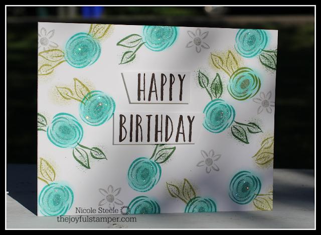 Happy Birthday CASEd card