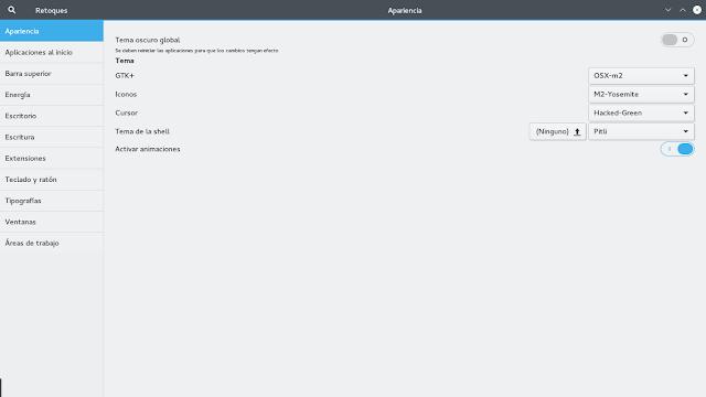 Personalizar escritorio Gnome en Fedora 23