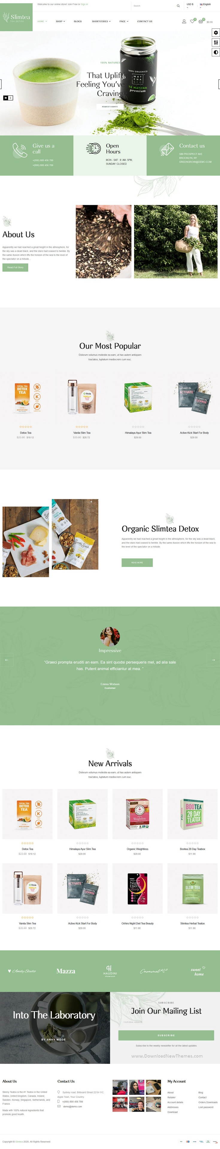 Natural And Organic Tea Store Pretashop Theme