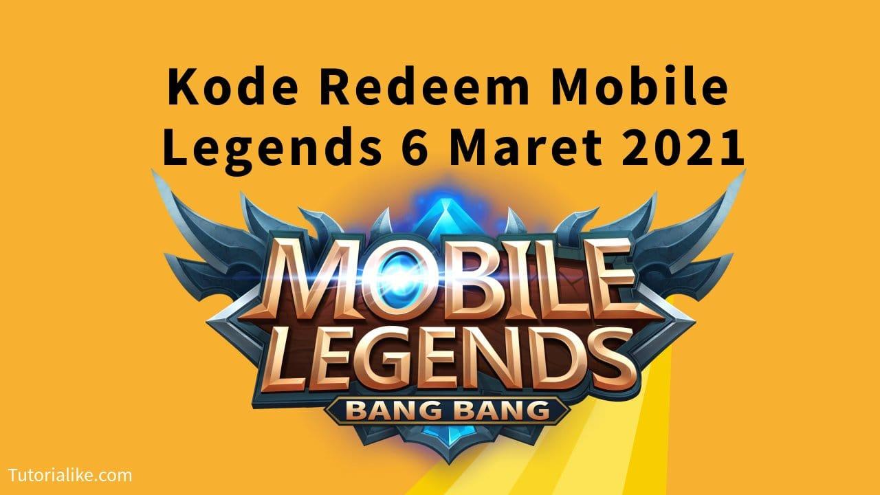 New Update ! Kode Redeem Mobile Legends (ML) 6 Maret 2021 Terbaru