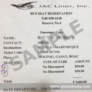 JAC Liner Bus Seat Reservation