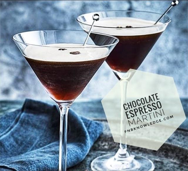 Chocolate Espresso Martini - my bar(fnbknowledge)