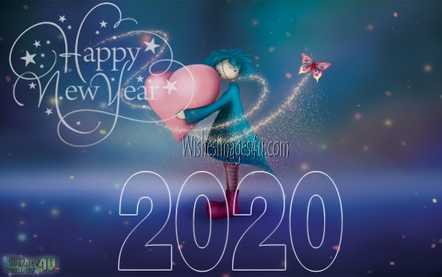 New Year 2020 Full HD Love Romantic Greetings Pics Download
