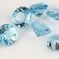 Natural Sky Blue Topaz Gemstones