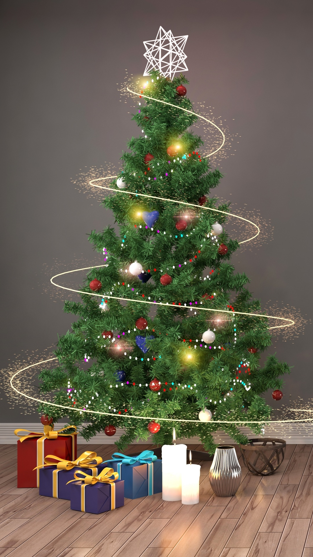 christmas tree Mobile Wallpaper