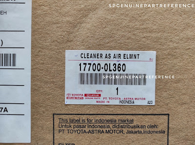 17700-0L360 label