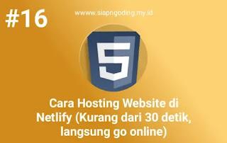 cara hosting di netlify