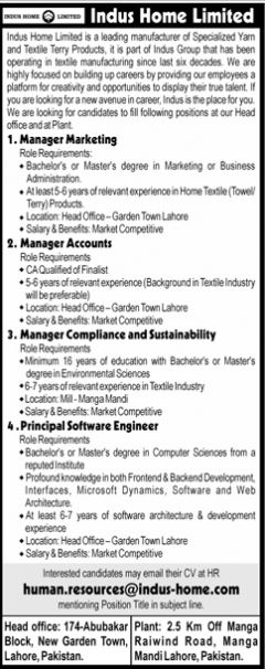 JOBS | Indus Home Limited