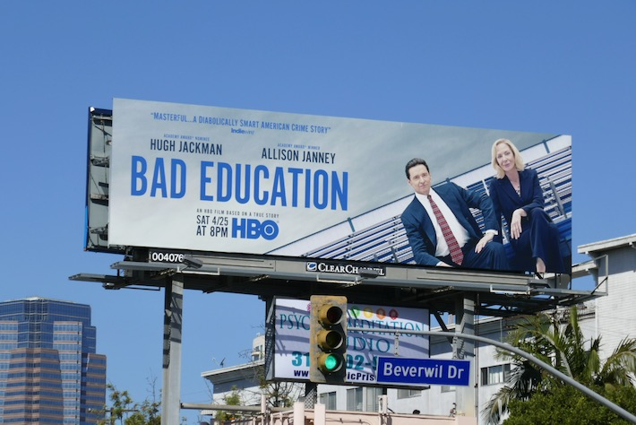 Bad Education film billboard