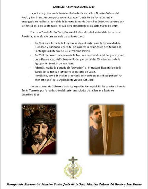 Cartel de Semana Santa de Cuartillos 2019