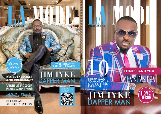 Jim Iyke Is The Cover Star For LA MODE Magazine January Issue