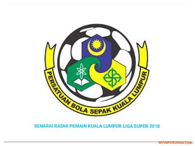 Senarai Rasmi Pemain Kuala Lumpur FA Liga Super 2018