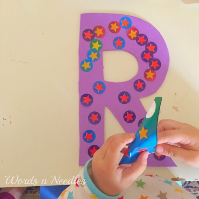 toddler activity letters stars learn name