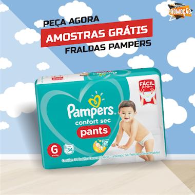 Amostras Grátis - Fraldas Pampers Confort Sec