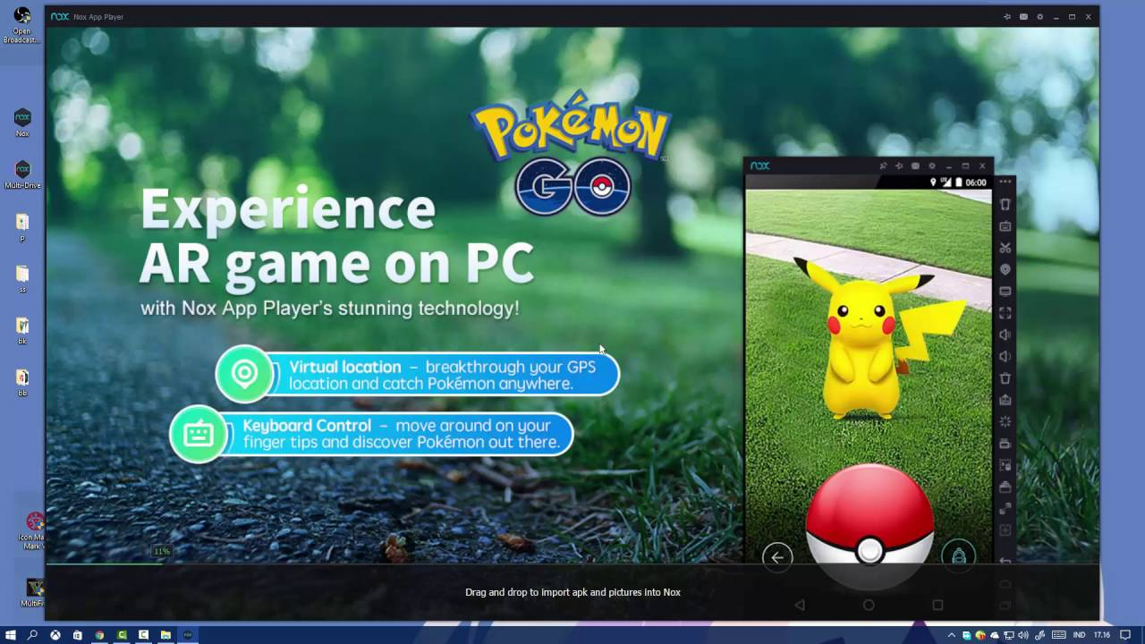 Macro for catching Pokémon (WORKING XP Farming) with Nox - POKEMON